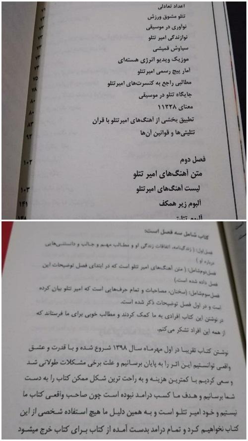 کتاب زندگینامه امیر تتلو (امیرحسین مقصودلو) خواننده زیرزمینی که ساکن ترکیه است چاپ و منتشر شد .
