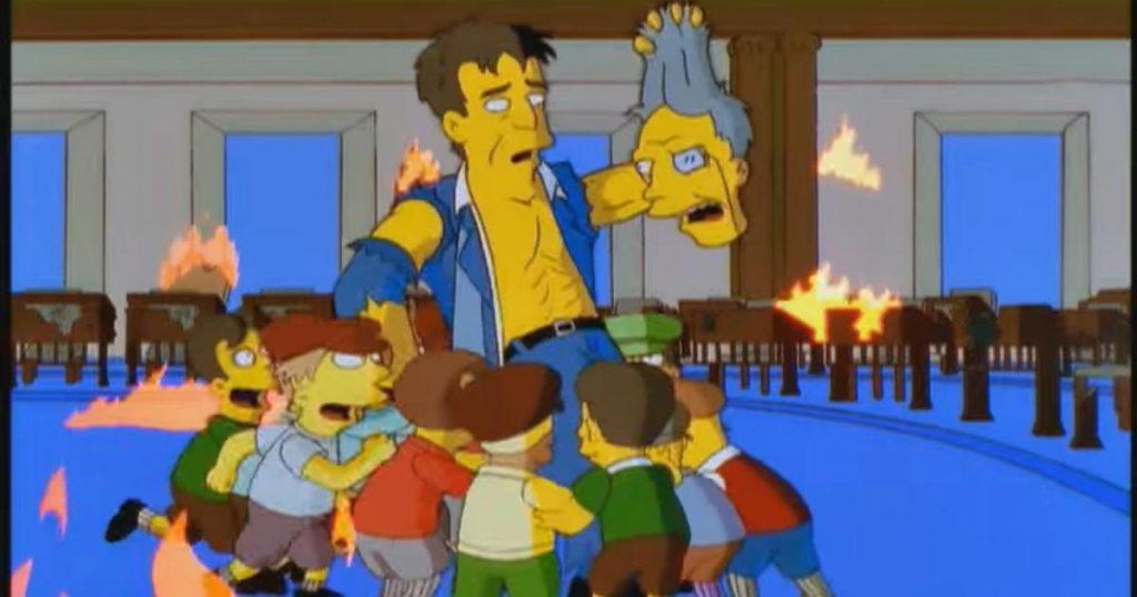 طرفداران سریال کارتون سیمپسونها (The Simpsons) ذوقزده شباهتهایی را بین یورش راستگرایان افراطی به ساختمان کنگره و یکی از قسمتهای اخیر این سریال پیدا کردهاند.