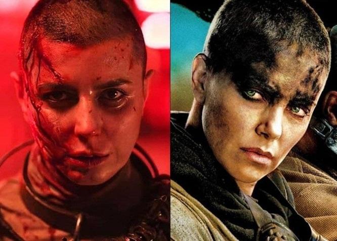 """شباهت لیلا حاتمی در فیلم """"قاتل و وحشی"""" با گریم شخصیت فیوریوسا در فیلم مکس دیوانه خبرساز شده است."""