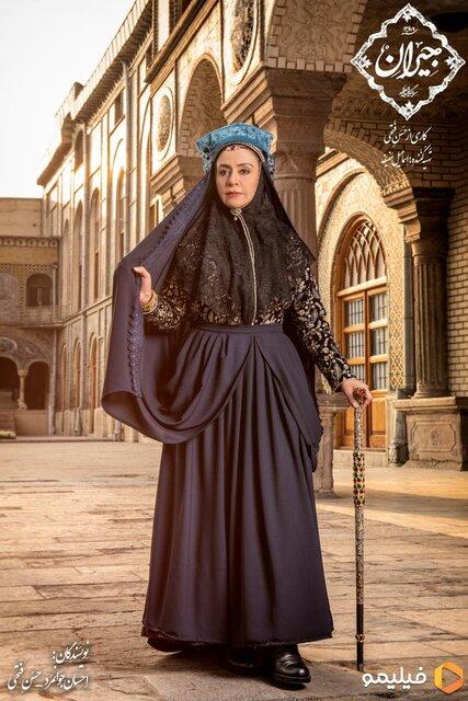 مریلا زارعی با جیران در نقش مادر ناصرالدین شاه + عکس